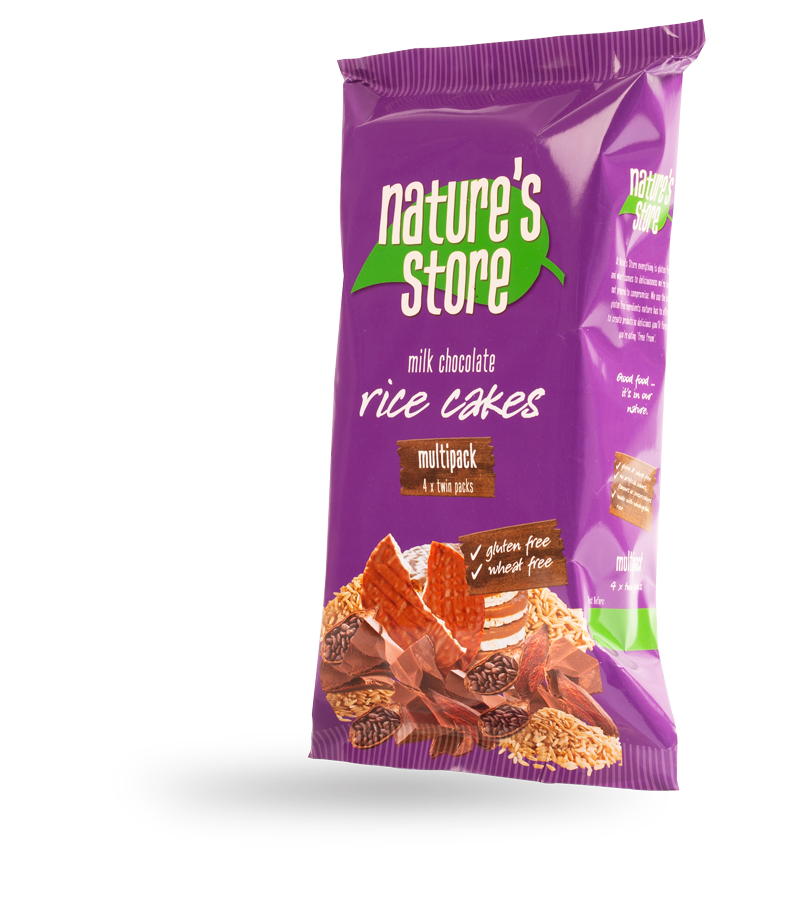 milk chocolate rice cakes multipack